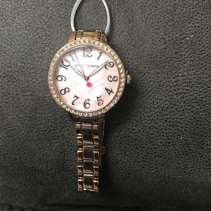 Betsey Johnson Rose Gold Rhinestone watch